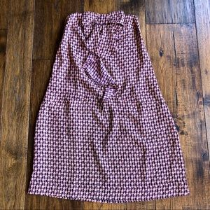 NWT GAP Colorful Strapless Dress with front bow.